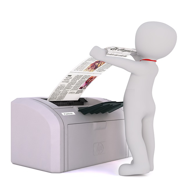 panáček, tiskárna, noviny