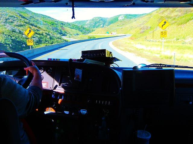 kamion, kabina, cesta