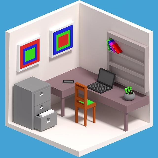 kreslená místnost