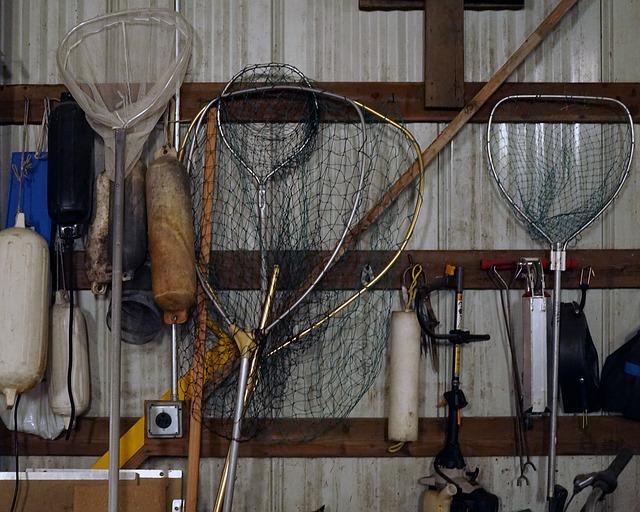 podběráky na rybaření