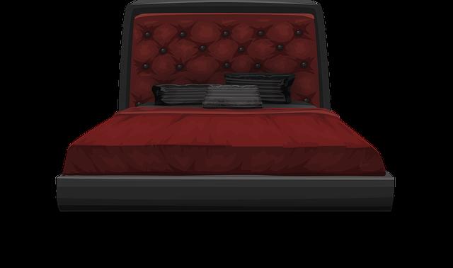 vínovo černá postel