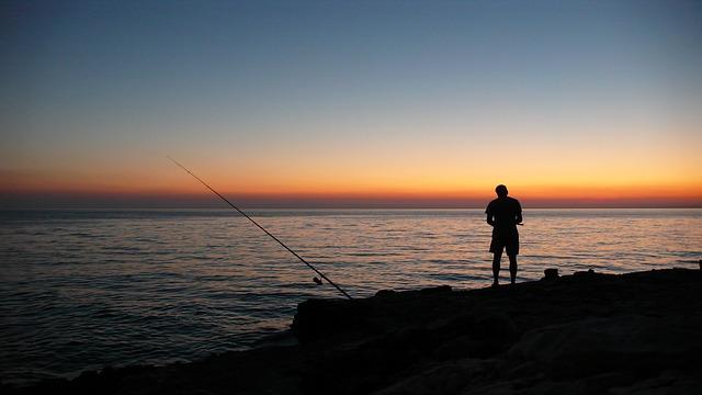 rybaření večer
