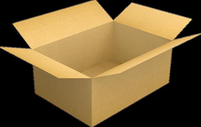 hnědá krabice