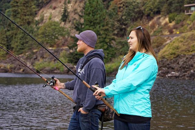 rybařící pár