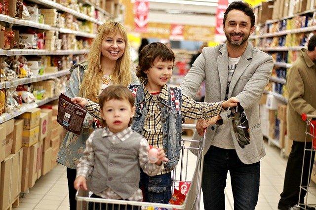 nákup s dětmi