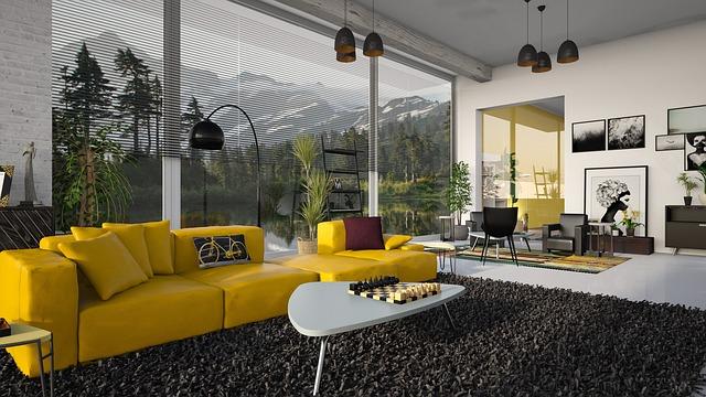 žlutá sedačka
